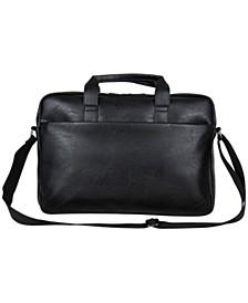 "Pebbled Faux Leather 15.6"" Laptop Tablet Business Case"