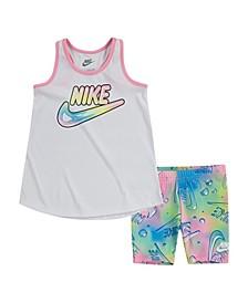 Toddler Girls Tank Top and Shorts, Set of 2