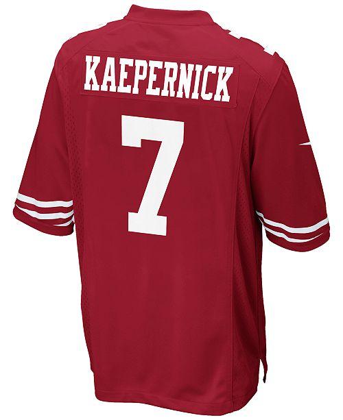 8892d9411 ... Nike Men s Colin Kaepernick San Francisco 49ers Game Jersey ...