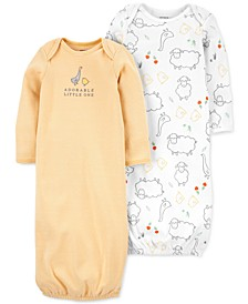 Baby Boys or Girls 2-Pack Sleeper Gowns