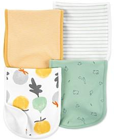 Baby Boys & Girls 4-Pack Striped Burp Cloths