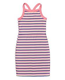 Big Girls Striped Ribbed Tank Dress
