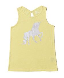 Big Girls Shiny Unicorn Tank