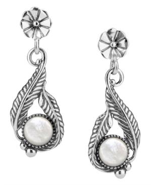 by Carolyn Pollack Sterling Silver Gemstone Leaf Flower Earrings
