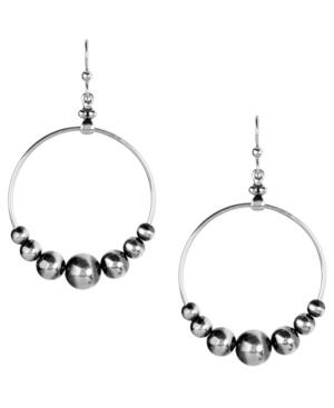 by Carolyn Pollack Native Pearl Beaded Dangle Hoop Earring in Sterling Silver