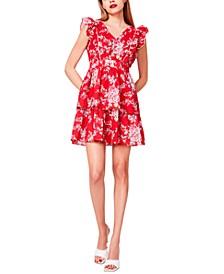 Bush Garden Cotton Seersucker Dress
