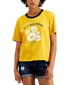 Juniors' Nice Human Graphic-Print T-Shirt