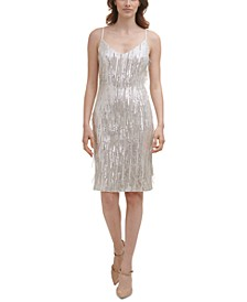 Sequined Fringed Dress