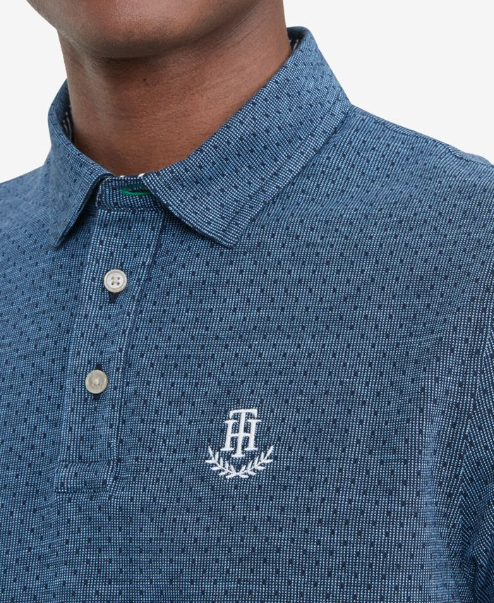 Tommy Hilfiger Men's Custom-Fit TH Luxe Jacques Dot Polo & Reviews - Polos - Men - Macy's