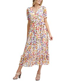 Puff-Sleeve Maxi Dress