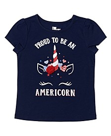 Toddler Girls Short Sleeve Americana Graphic Tee