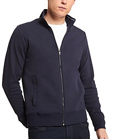 Men's Regular-Fit Mix-Media Full-Zip Travel Sweatshirt