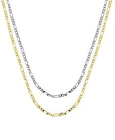 """Figaro Link Chains in Gold or Fine Silver Plate in 18""""-24"""""""