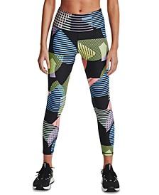Women's HeatGear® Geometric-Print 7/8 Length Leggings