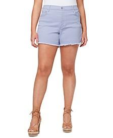Plus Size Infinite High Waist Denim Shorts