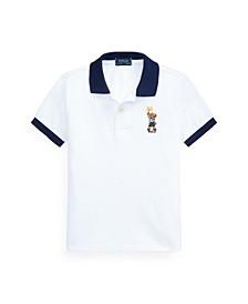 Little Boys Sparkler Bear Polo Shirt