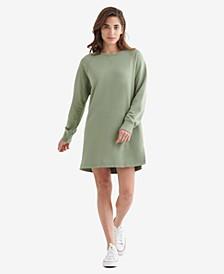 Women's Fleece-Knit Sweatshirt Dress