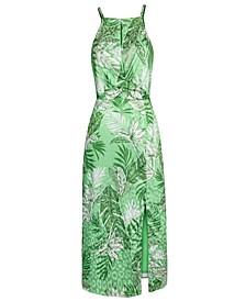 Keyhole Printed Dress
