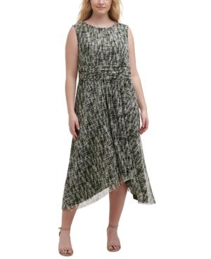 Plus Size Handkerchief-Hem Dress