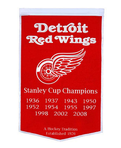 Winning Streak Detroit Red Wings Dynasty Banner