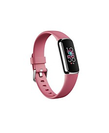 Luxe Fitness Tracker in Platinum with Orchid Wrist Band