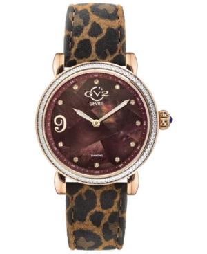Women's Ravenna Swiss Quartz Brown Italian Leather Strap Watch 37mm