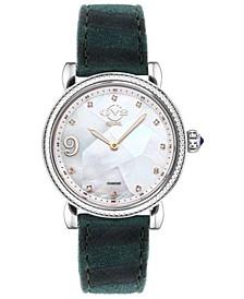 Women's Ravenna Swiss Quartz Green Italian Leather Strap Watch 37mm