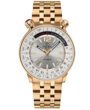 Men's Wallabout Swiss Automatic Ion Plating Rose Stainless Steel Bracelet Watch 44mm