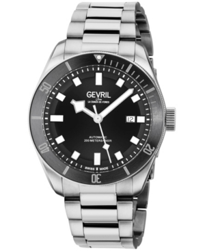 Men's Yorkville Swiss Automatic Silver-Tone Stainless Steel Bracelet Watch 43mm