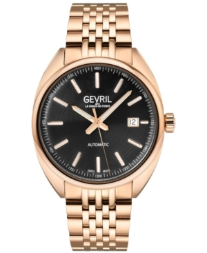 Men's Five Points Swiss Automatic Ion Plating Rose Stainless Steel Bracelet Watch 47.5mm