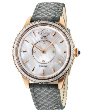 Women's Siena Swiss Quartz Gray Italian Leather Strap Watch 38mm
