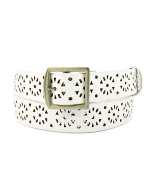 Casual Leather Laser Perforated Belt