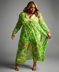 Trendy Plus Size 2-Pc. Dress & Shorts Set, Created for Macy's