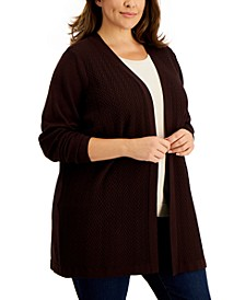 Plus Size Chevron Duster Cardigan, Created for Macy's