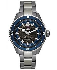 Men's Swiss Automatic Captain Cook Silver High Tech Ceramic Bracelet Watch 43mm