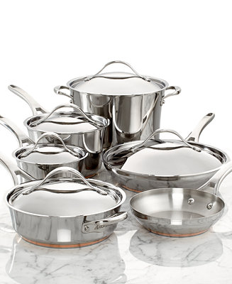 Anolon Nouvelle Copper Stainless Steel 11 Piece Cookware