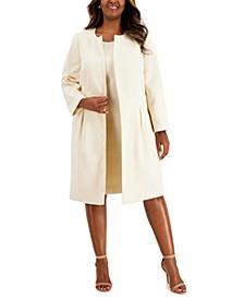 Plus Size Topper-Jacket Jacquard Dress Suit