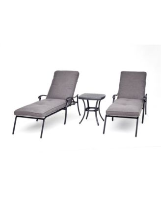 Vintage II Outdoor 3-Pc. Chaise Set (2 Chaise Lounges & 1 End Table) With Outdura® Cushions, Created for Macy's