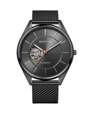 Men's Automatic Gray Stainless Steel Mesh Strap Watch 43mm