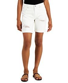 Juniors' Cuffed Bermuda Shorts