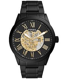 Men's Flynn Automatic Black Stainless Steel Watch 48mm