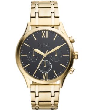FOSSIL MEN'S FENMORE MULTIFUNCTION GOLD-TONE BRACELET WATCH 44MM