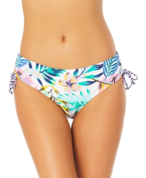 Juniors' Mid-Rise Side-Ruched Bikini Briefs Women's Swimsuit
