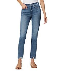 Charlie Destructed-Hem Cropped Jeans