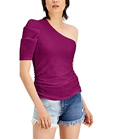 Puckered One-Shoulder Top, Created for Macy's