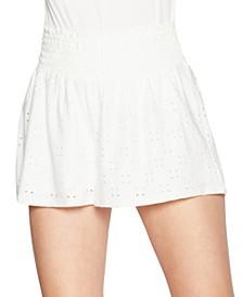 Smocked-Waist Shorts