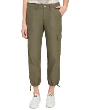 Drawstring-Hem Cargo Pants