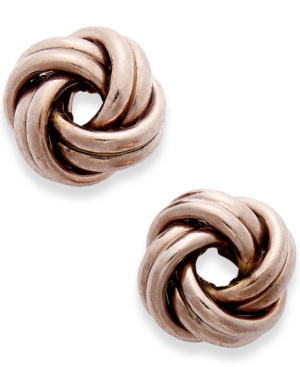 Love Knot Stud Earrings in 18k Rose Gold