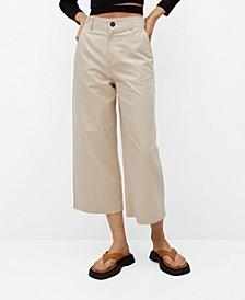 Cotton Culotte Trousers