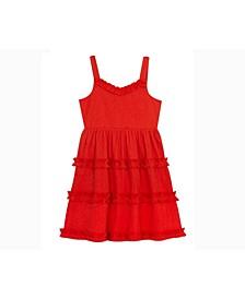 Big Girls Tiered Gauze Dress